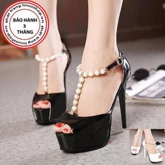 Giày cao gót ngọc trai cao cấp - LN918