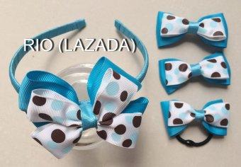 Bộ phụ kiện tóc handmade dành cho bé gái - rio 03.
