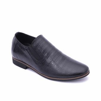 Giày da công sở tăng chiều cao Smartmen SM-01 (Đen)