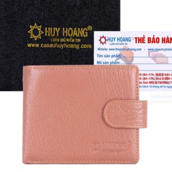 HL2141 - Bóp nam Huy Hoàng bấm nút màu da