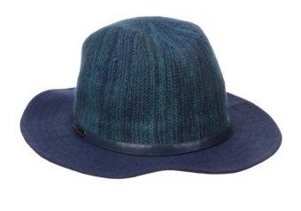 Mũ (nón) rộng vành cao cấp nữ BCBGeneration Women's Heathered Panama Hat Navy Sea (Mỹ)