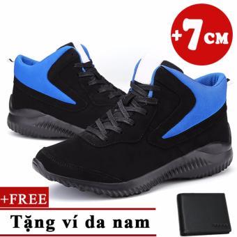Giày tăng chiều cao 7cm+Tặng 1 ví da nam cao cấp 7001DE TINTO