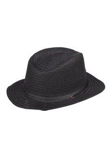 HKS Straw Braid Cowboy Sun Hat Cap Star Applique Classic Topee - intl