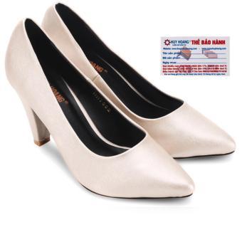 HL7084 - Giày nữ Huy Hoàng cao cấp đế 7 cm màu kem