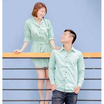 Set Áo Váy Cặp Tình Nhân Màu Xanh Bích Ngọc ( 1 Cặp)