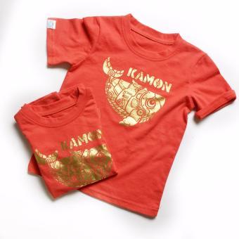 Áo Thun Màu Đỏ Logo Kamon