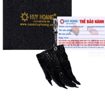 HL8210 - Móc khóa da cá sấu Huy Hoàng màu đen