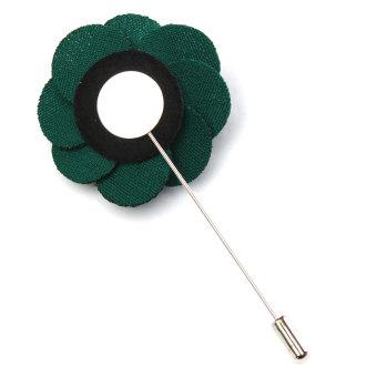 Lapel Flower Daisy Handmade Boutonniere Stick Brooch Pin Men's Accessories 9 - Intl - Intl