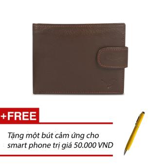 Ví Da Nam Conbonee (Nâu) + Tặng một bút cảm ứng cho smart phone