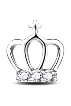 Fancyqube 1 Pair Princess Crown 925 Sterling Z Rhinestone Ear Stud Earrings Jewelrysilver