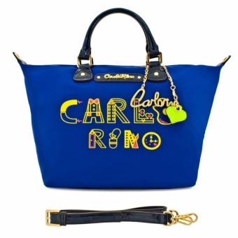 Túi tote cỡ trung lạ mắt Carlo Rino 0303293-202-13 (xanh lam)