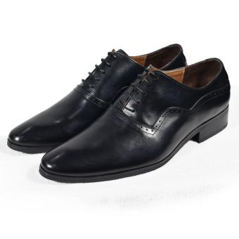Giày tây nam cột dây màu đen đục lỗ sóng Tathanium Footwear (Đen)