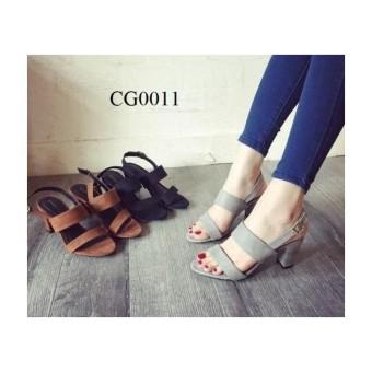 Giày sandal cao gót MYS 2 dây