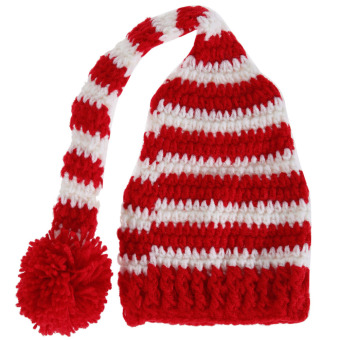 Handmade Crochet Baby Hat Red and White (Intl)