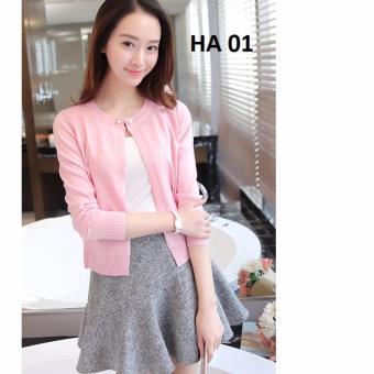 Áo len cardigan nữ Family shop HA 01 (HỒNG)