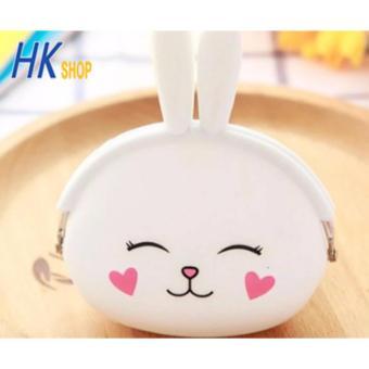 Bóp Ví Nữ Silicon Nhỏ Xinh HK SHOP SL3 (Thỏ Trắng)