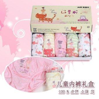 Set 5 quần lót Hàn Quốc cho bé gái Mr Kids Cat Baby
