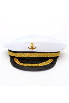 HKS Yacht Captain Skipper Sailor Boat Marine Anchor Cap Navy Hat Costume Party Dress - intl
