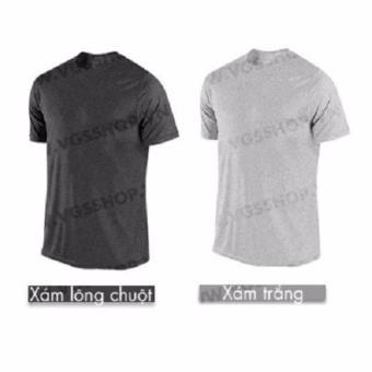 Bộ 2 áo thun LAKA A1516 (Xám + Xám trắng)
