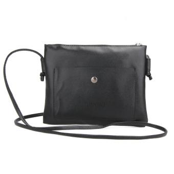 Fashion Women Small PU Leather Satchel Cross Body Shoulder Bag Handbag(Black) - intl