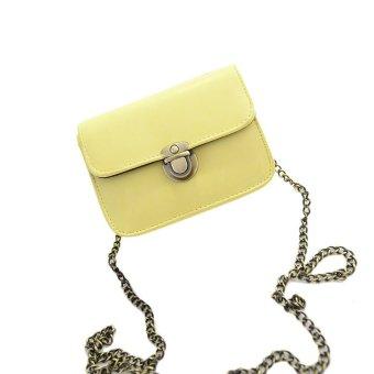 Lovely Girl Pu Leather Mini Small Adjustable Shoulder Bag Handbag Yellow