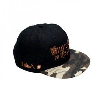 Nón Snapback The Power vành camo Juliecaps (Đen)