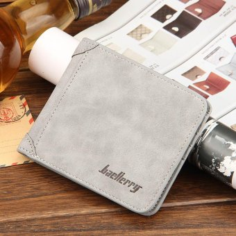 Men Wallet Matt Leather Vintage Purses Money Bag Credit Card Holders New Dollar Bill Wallet - intl