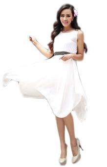 Đầm Huy Kiệt HK179 (Trắng)