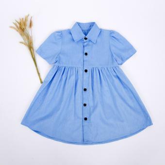 Đầm cổ đứng cho bé gái Papa - fashion for kids