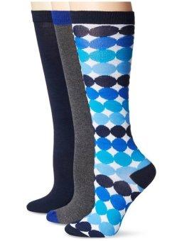 Bộ 3 đôi vớ (tất) cao nữ Betsey Johnson Women's Ombre Dots Knee-High Socks 3-Pack (Mỹ)