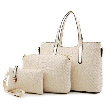 Women Handbag Shoulder Bag Leather Messenger Hobo Bag Satchel Purse Tote - intl