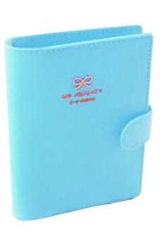 Bluelans Passport Holder Cover Ticket Card Case Bowknot PU Leather Travel Wallet Blue (Intl)