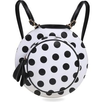Cyber Striped Floral Polka Dot Hat Shape Backpacks Bag ( Black ) - intl