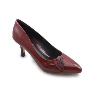 Giày bít cao gót nữ 7f đính nơ