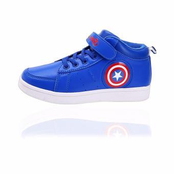 Giày thể thao bé trai Sneaker Captian America từ 6-12 tuổi (xanh lam)