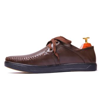 Giày lười nam da thật nâu VNLMOMT26A2N