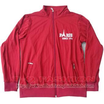 Áo khoác nữ paris - màu đỏ đô