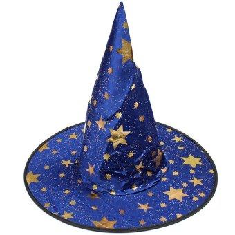 Boys Girls Kids Children Wizard Magician Fancy Dress Book Week Halloween Costume Blue - Intl