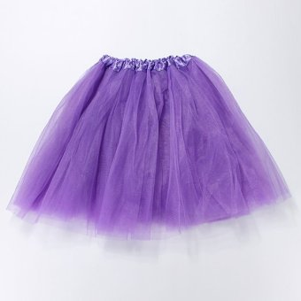 Girl Adult Women Elastic Tutu Ballet Skirt Stretchy Bridesmaid Party Ball Tulle Dress Darl Purple NEW - intl
