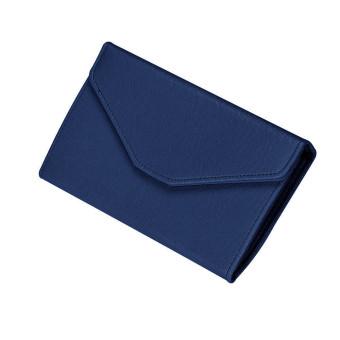 Women Clutch Long Purse Leather Wallet Dark blue
