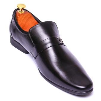 Giày tây nam Da Thật lịch lãm Giày Da Miền Trung VCT2LZD55D-1 ( Đen )