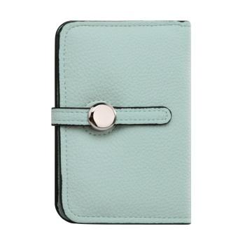 Women PU Leather Short Wallet (Light Green) (13.5) - Intl