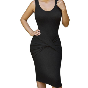 Fancyqube Sexy Women Short Cross Gown Evening Party Irregular Mini Dress