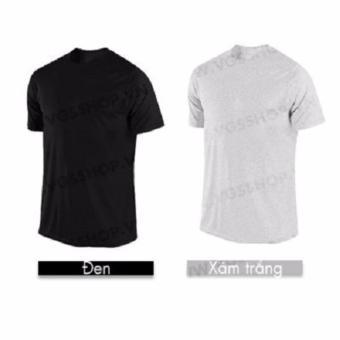 Bộ 2 áo thun nam Laka LKA1016 (Đen, xám trắng)