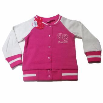 LF Áo khoác cho bé gái Fleece Jacket Luvable Friends - 18-24M - Hồng