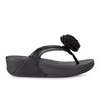 Dép Xỏ Ngón Fitflop FFW Flowerball Leather TP (Đen)