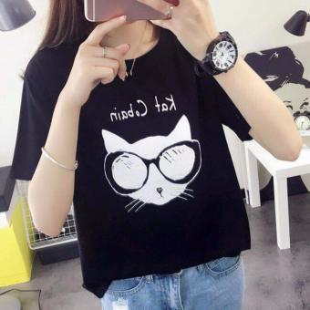 MSAT36: Áo Thun Nữ Kat Cobain Màu Đen M, L