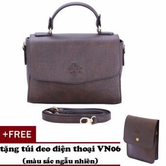 Túi đeo chéo nữ đa năng LATA HN31 (Nâu)+ Tặng ví Vn06