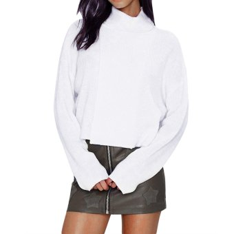 Turtleneck Pure Color Loose-fitting Pullover - intl