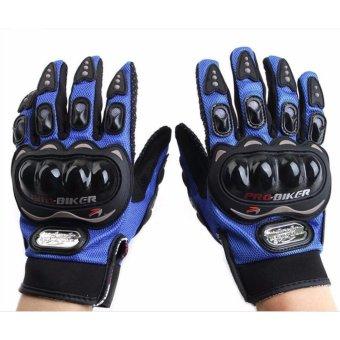 Găng tay dài ngón Probiker chuyên phượt (Xanh dương)
